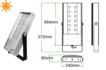 Lodestar F02 LED floodlight (solar)