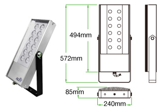 Lodestar F02 LED floodlight
